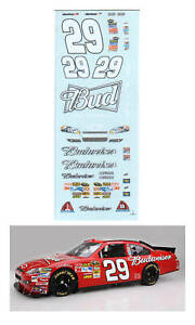 #29 Kevin Harvick 2011 Budweiser decal 1/64 scale AFX Tyco Lifelike Autoworld