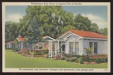 Postcard Tallahassee FL Motor / Auto Court 1930's