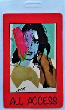 * Mick Jagger * - 1988 Laminated Backstage Pass - numbered - Andy Warhol Art