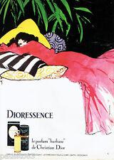 PUBLICITE ADVERTISING 125  1980  Dioressence parfum par René Gruau de Dior