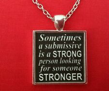 BDSM Jewelry Necklace Day Collar * Strong Submissive * BDSM Quotes