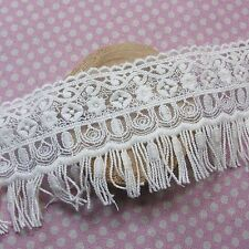 Tulle Lace Trim Antique Style Floral Embroidery 7cm Wide 1yard