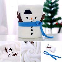 Christmas Throw Blanket Kid Baby Large Soft Plush Washable Xmas Snowman Decor
