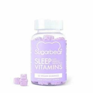 SugarBear Sleep, Vegan Gummy Vitamins, 5-HTP, Magnesium, 60 Count