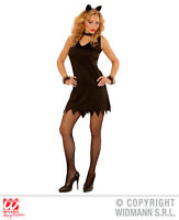 Womens Ladies Sexy Black Cat Halloween Fancy Dress Costume Outfit Adult