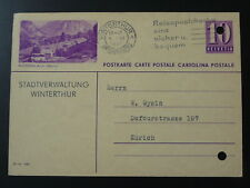 autobus automobile postal stationery card Switzerland 1940