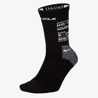 Nike Lebron Elite Basketball Crew Socks 1 Pair Mens Black Multi Size Sportswear