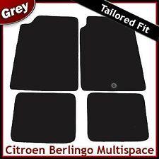 Citroen Berlingo Multispace Mk1 1996-2007 1-Clip Tailored Carpet Mats GREY