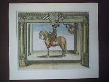 1625 ! MILITAIRE ECUYER COURONNE FRANCE MAISON DE LORRAINE CHEVAL GUERRE CHEVAUX