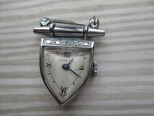 vintage juvenia mechanical brooch watch ticking  for lady