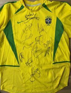 Multi signed Brazil football shirt UACC Registered Dealer RACC Trusted AFTAL