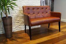 Echtleder Sitzbank Rückenlehne Hotel Lounge Bank Wartebank Sofa Sessel Leder