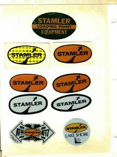 LOT OF 9 DIFFERENT STAMLER MINING PRODUCTS COAL MINING STICKERS # 306