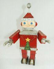 "Roman Inc. Wind Up Musical Robot Santa 12"" Figurine w/ Moving Head & Arms"