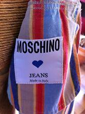 Vintage Moschino Striped Cropped Jacket STUNNING size 12 Designer