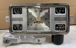 1948 49 50 Willys Overland Instrument Cluster Speedo Oil Amp Temp Fuel Gauges