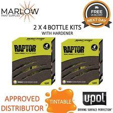 2 X U-POL 3.8l Raptor Truck Bed Liner UPOL Kits 7.6 Ltr Deal Tintable