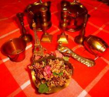 Vintage Joblot - 10 x  Brass & Copper  Miniatures/ ornaments
