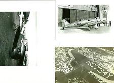 SET OF 3 - LOT #40 B&W 4X6 PHOTOS: RED BIRD NORTHROP WITTMAN OSH KOSH AIRPLANES