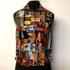Hilo Hattie Pineapple Print Sleeveless Hawaiian Shirt Hawaii Blouse Womens XS