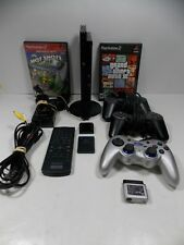 Sony PlayStation 2 Slim, Black, 3 Controllers,Mem.Card & Games, Fully Functional