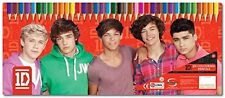 ONE DIRECTION 1D 50 COLOURING PENCIL SET STATIONERY TIN CASE BOX OFFICIAL - NEW