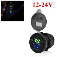 5V 2.1A USB Car Cigarette Lighter Socket Green LED Plug Charger Power Adapter