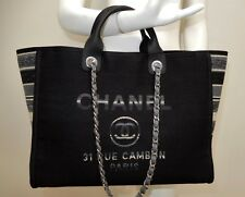Chanel Deauville Canvas Grand Shopper Large Tote Bag Fall 2018