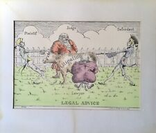 Antique Limited Edition Etching of Famous C18th Legal Cartoon By Bright