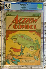 ACTION COMICS #1  |  CGC 9.8!  | White pages  -  Safeguard Promotional  CGC 9.8!