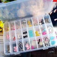 Jewelry Bead Earrings Rings Hair Ropes Storage Box Case Organiser 10/15/24 Grids