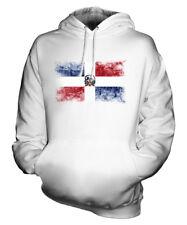 DOMINIKANISCHE REPUBLIK WEINLESE FLAGGE UNISEX KAPUZENPULLOVER HERREN DAMEN