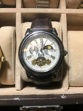 Lucien Piccard 28116SL Automatic Chronograph MoonPhase Watch 22j Silver