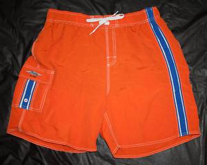 Hobie Mens Board Shorts Swim Trunks Surf Nylon Shorts Size Large