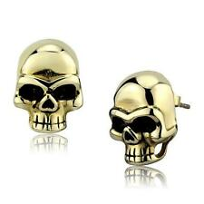 Golden Skull Earrings Stainless Steel Studs