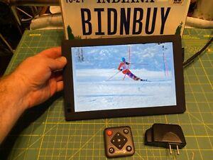 "Nixplay W10B Seed 10.1"" Widescreen WiFi Digital Photo Frame w/ controller"