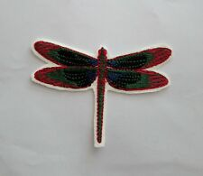 Dragon Fly Embroidered Patch Badge, Iron on or sew onto Clothes,Bags