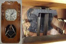 ANTIQUE WALL CLOCK rare GARNIER & KIENZLE Carillons Westminster BOLBEC FRANCE