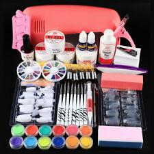 Nail UV Gel Art Kit Starter Professional 9W UV Lamp Manicure Care Tools Topcoat