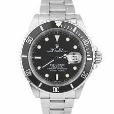Rolex Submariner Date 16610 Stainless Steel 40mm Black Dive Pre-Ceramic Watch
