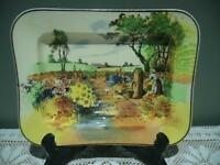 Vintage Royal Doulton Sandwich Slice Plate - Country Garden - Maid At Pump - Gc