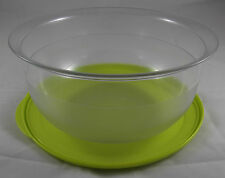 Tupperware C 24 große Tafelperle Schüssel 3,5 l Klar / Gelbgrün Grün Neu OVP