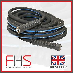 """Jetwash/ Pressure Washer Hose Karcher Ends 3/8"""" 2WIRE -Various Lengths Available"""