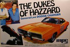 GENERAL LEE 1969 DODGE CHARGER with FLAG DECAL 1:25 SCALE MPC PLASTIC MODEL KIT