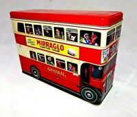 "10"" London Transport Tin Litho Double Decker Bus Canister"