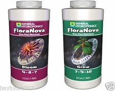 General Hydroponics FloraNova Series 16oz GROW & BLOOM Pints SAVE $ W/ BAY HYDRO