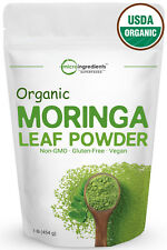 Premium Pure Organic Moringa Leaf Powder USDA Certified 1 Pound Superfood