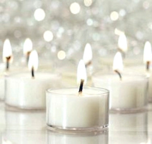 24 Transparent Tea Light Candles-Unscented