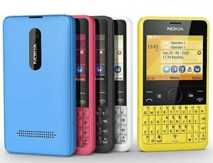 Nokia Asha 210 Mobile Phone Watsapp Facebook Qwerty unlock phone / BOXED UP