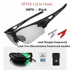 ROCKBROS Cycling Glasses Photochromic Polarized UV400 Goggles Sunglasses Black